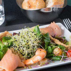 La cuisine du Patio, un véritable bouquet de textures, de saveurs et de couleurs.
